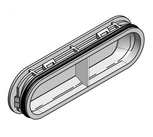 Verteileranschluss-Deckel flach