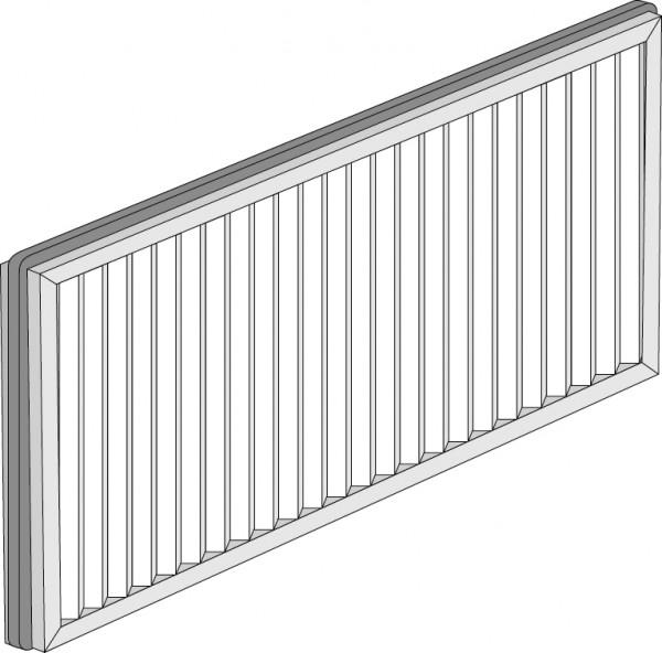Feinfilter 250WAC G4/F6 (für Gerät mit Bypassklappe)