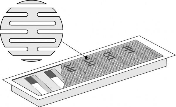 Lüftungsgitter für Fußbode- / Wandauslass