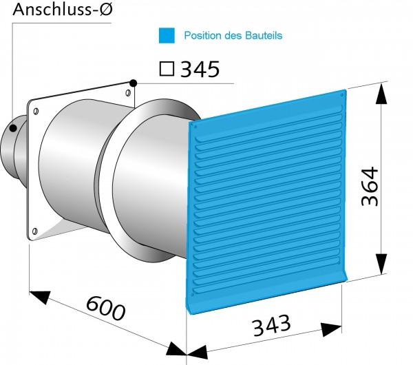 WX Edelstahlgitter - Umbauset für 200LG002
