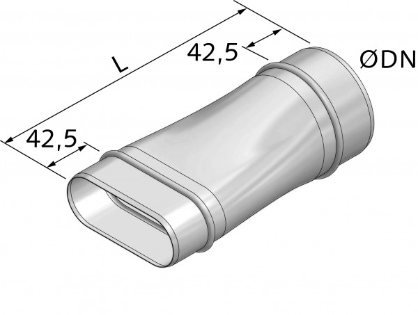 Übergang rund-oval