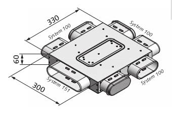 Luftverteilkasten mit 6-Abgängen