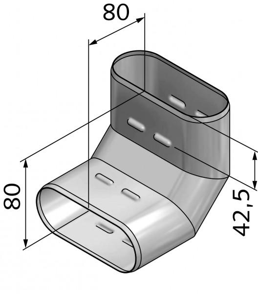 Winkel 90° breitseitig