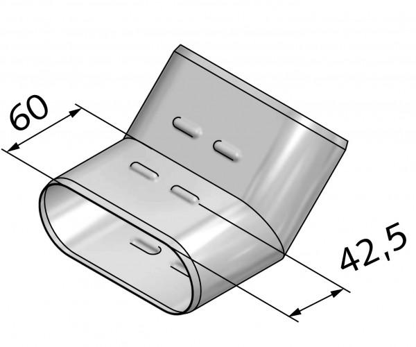 Winkel 45° breitseitig