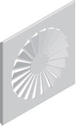 Designblende DRALL DN125