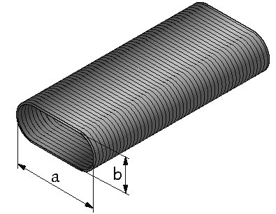 Quadroflex, flexibles Ovalrohr