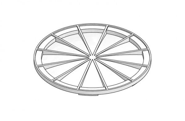 Verteilanschluss-Deckel rund